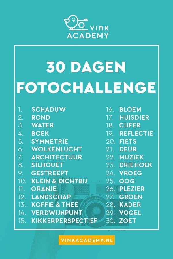 Daag jezelf uit en doe met de fotografie challenge: 30 dagen lang