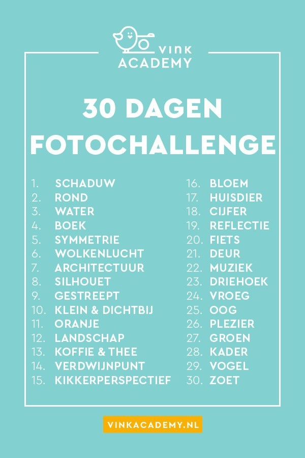 dertig dagen fotografie challenge • vink academy