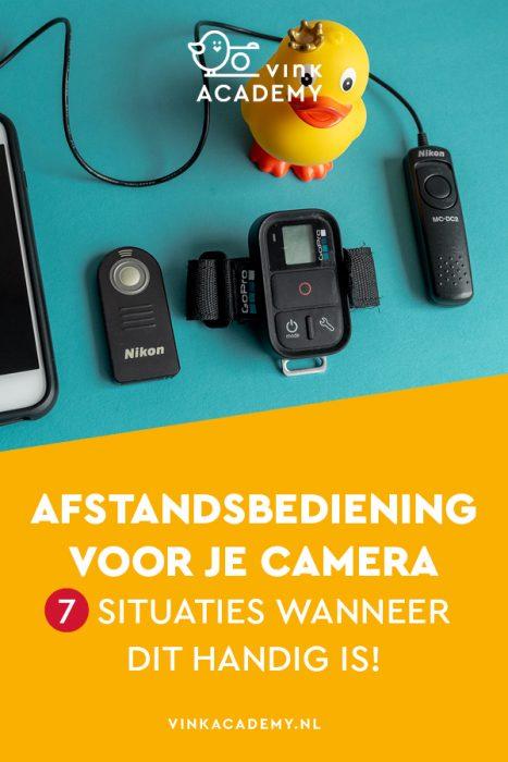 Fotograferen met een afstandsbediening (remote), draadontspanner of via je smartphone (iPhone, Samsung)