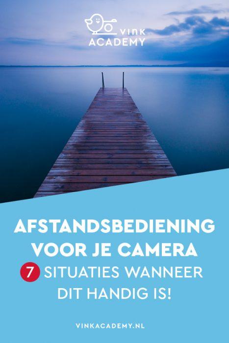 Fotograferen met een afstandsbediening (remote), draadontspanner of via je smartphone