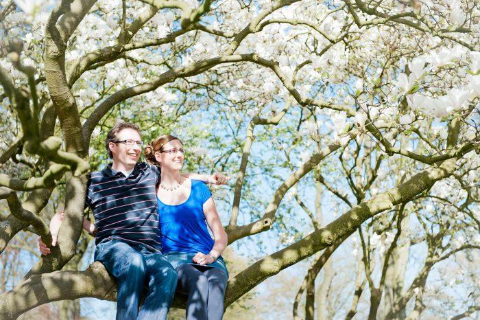 Samen in de bloesemboom