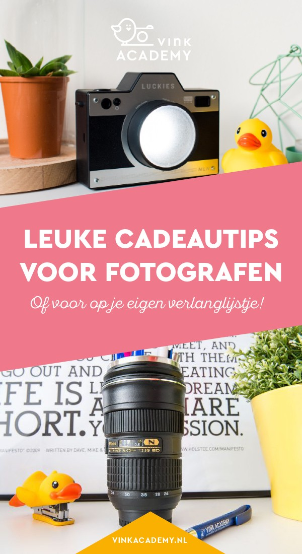 Zeer Cadeautips voor fotografen - Vink Academy &XI86