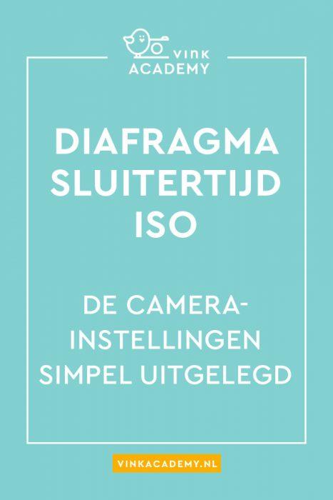 Diafragma, sluitertijd, ISO