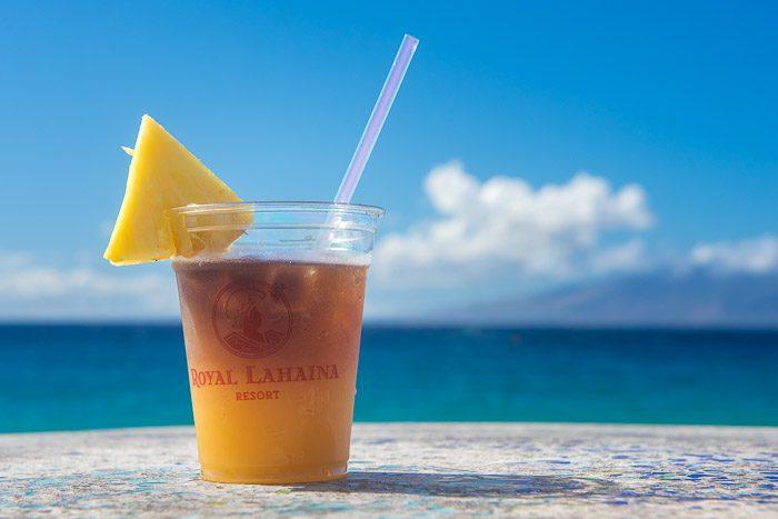 Cliche vakantiefoto's: lekker drankje
