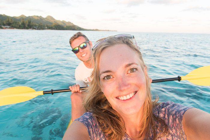 Cliche vakantiefoto's: selfie