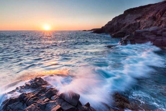 Zonsondergang op Sardinie