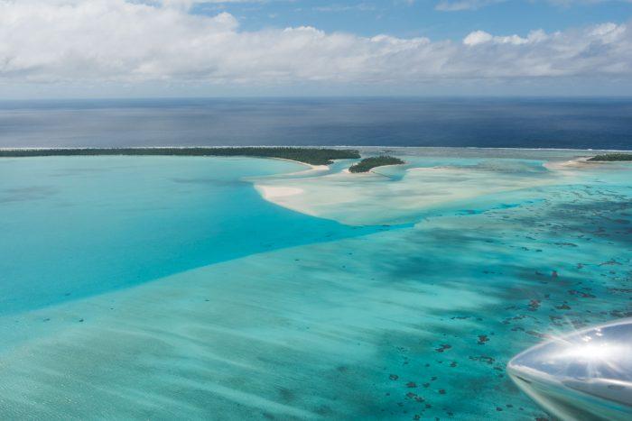 Het eilandje in het midden is One Foot Island. Je kunt niet de tenen zien, maar begrijpt hopelijk wel hoe het zit met de vorm van de voet.