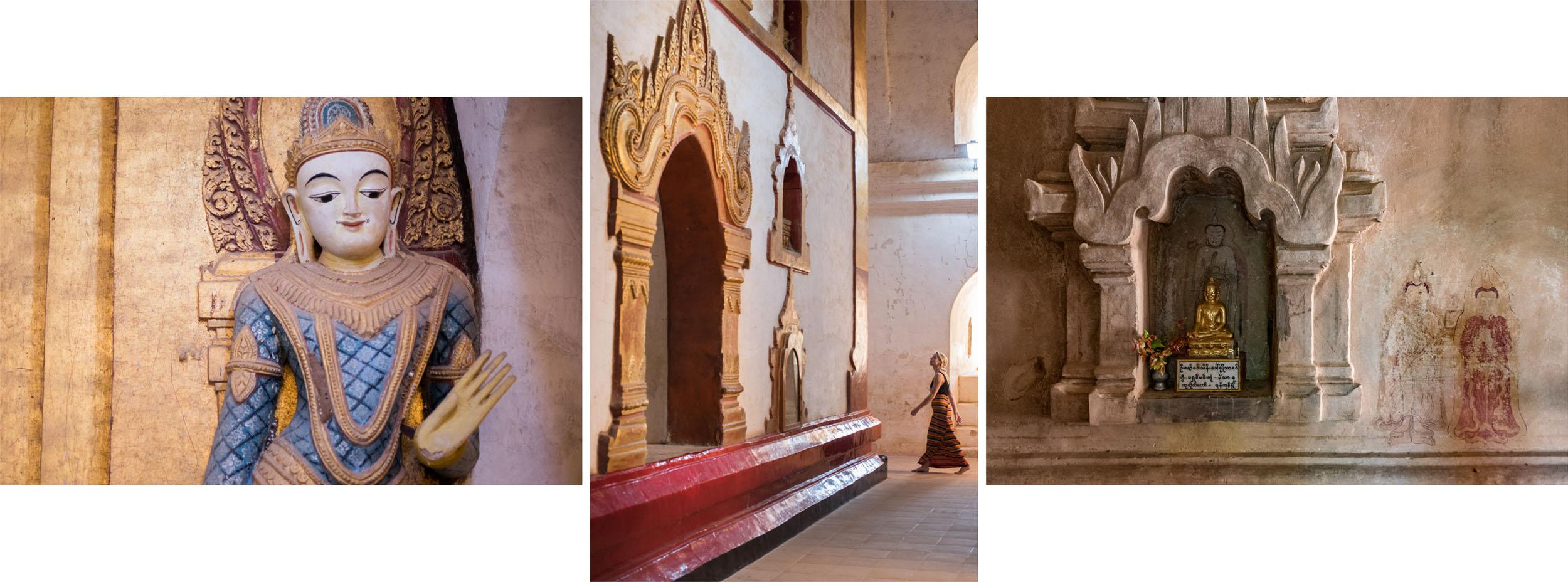 Drieluik boeddha rechts