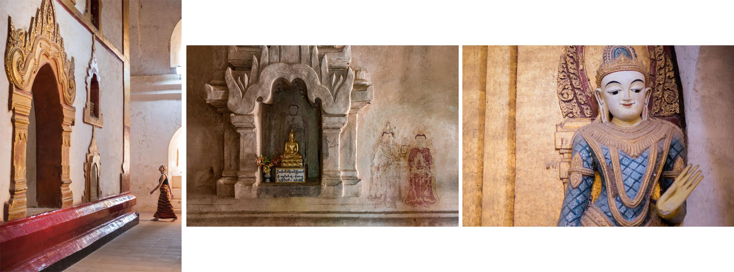 Drieluik in tempels in Myanmar, Bagan