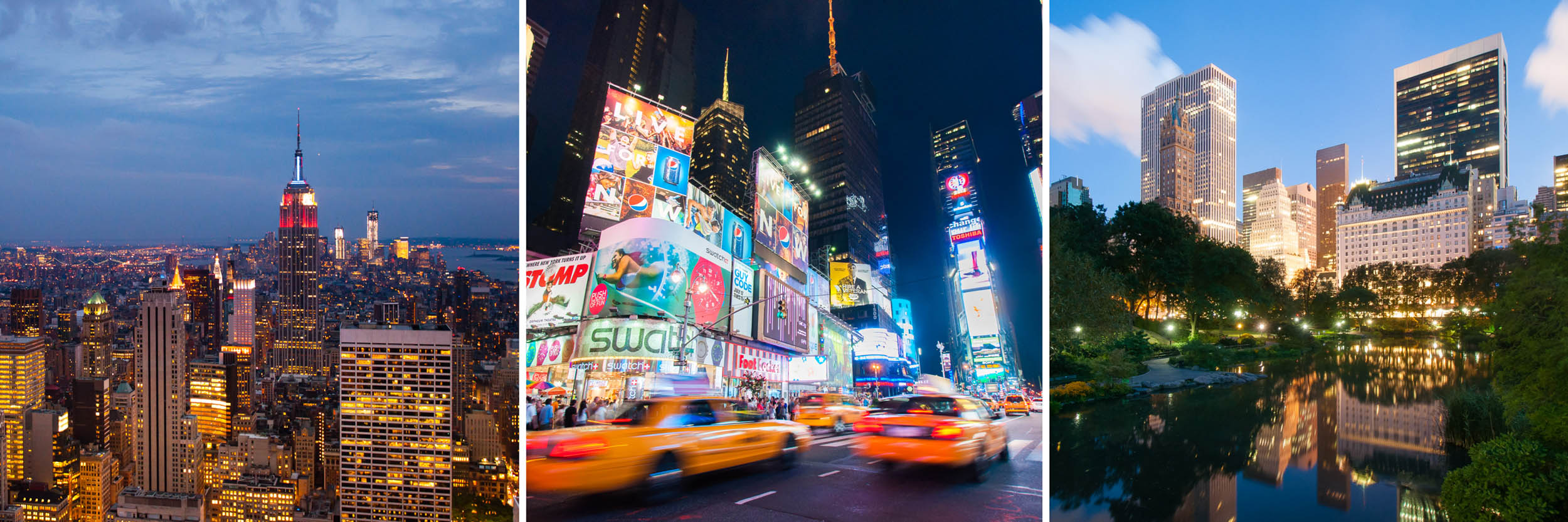 Drie keer avondfotografie in New York