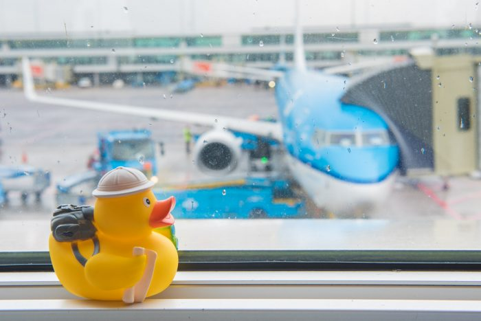 Ducky op Schiphol