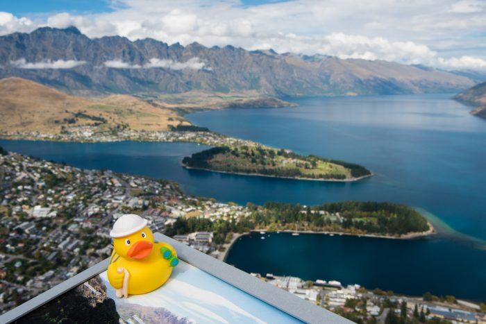 Ducky met het uitzicht over Queenstown