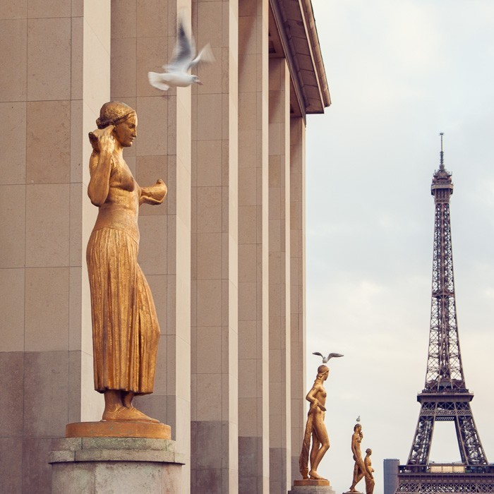 De eiffeltoren is het icoon van fotogeniek Parijs