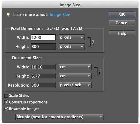 Foto verkleinen met Photoshop Elements
