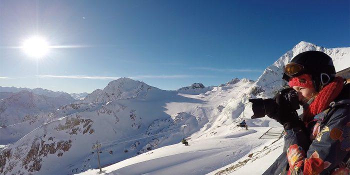 Fotograferen bij Stubaier Gletsjer in Oostenrijk