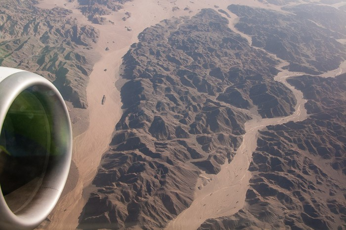 Bergen in de woestijn van Egypte