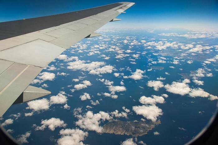 Eiland en wolken