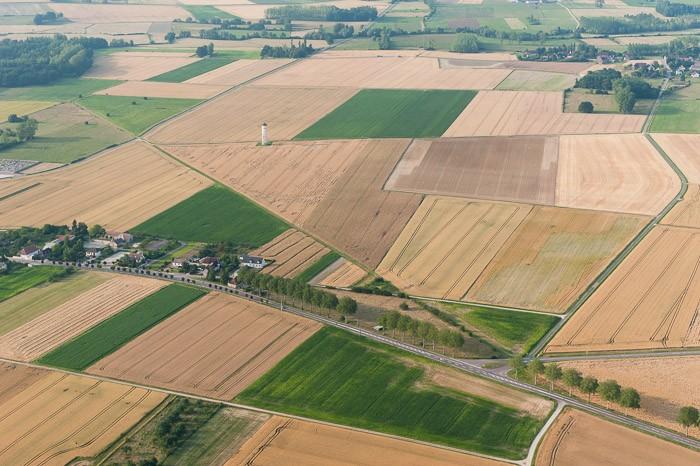 Gefotografeerd vanuit het zweefvliegtuig in Frankrijk