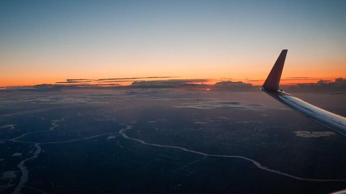 Zonsondergang of zonsopgang