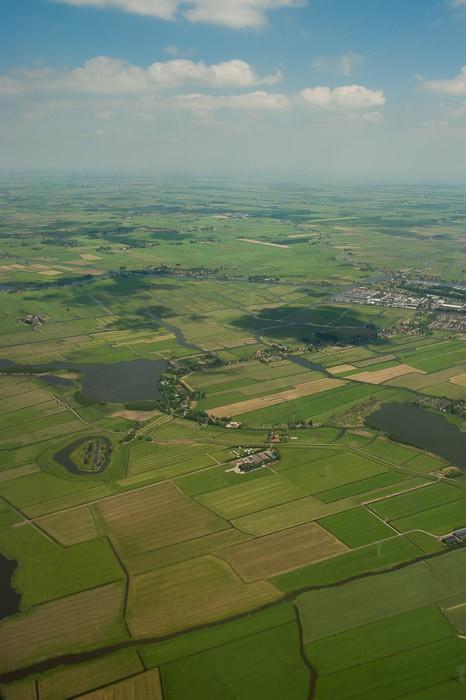 Nederland vanuit het vliegtuig gefotografeerd