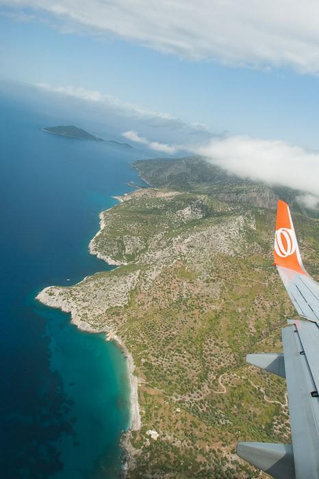 Samos, vlak voor de landing