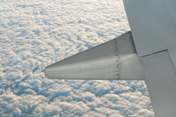 Detail van het vliegtuig