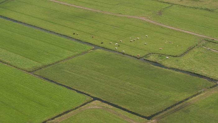 Nederland gefotografeerd vanuit de lucht