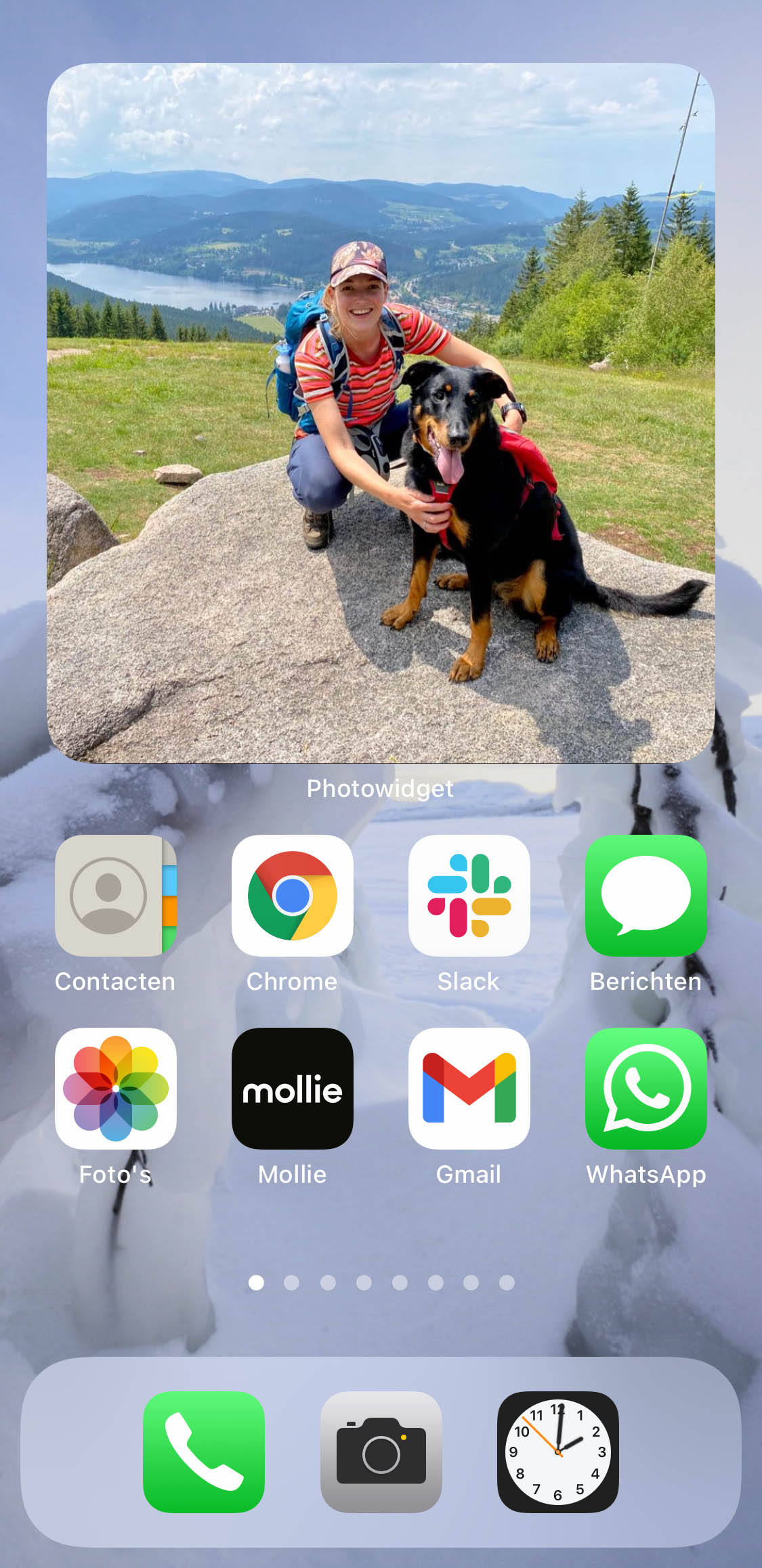 Photowidget op iPhone
