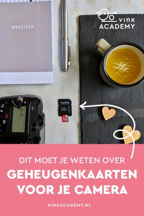 Geheugenkaartjes kiezen en kopen voor je camera