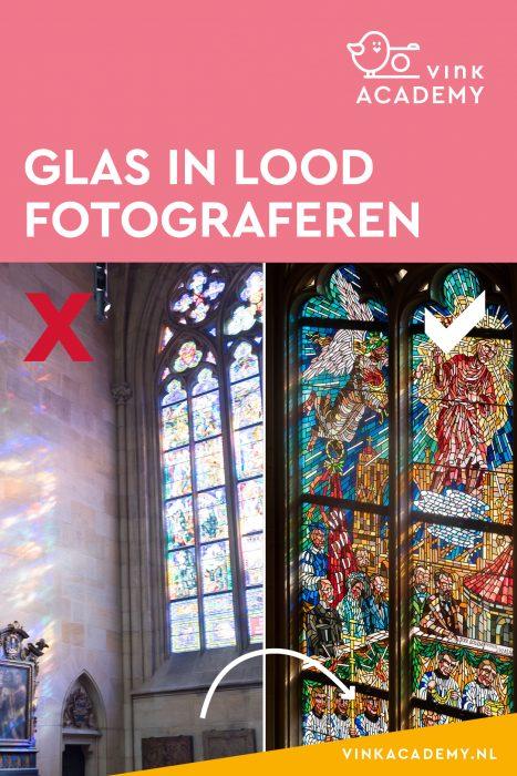 Tisp voor het fotograferen van een glas in lood raam