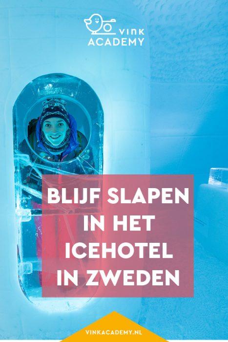 Slapen in het IJshotel in Zweden