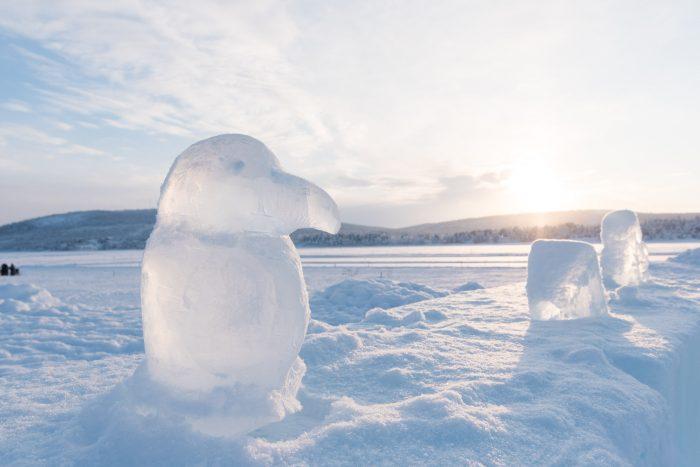 In het ijshotel kun je ook een workshop ijsbeeldhouwen volgen. Dit is geen creatie van mij, maar vond 'm wel cool!