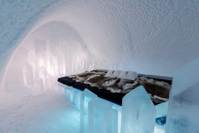 In deze ijskamer heb ik geslapen! :)