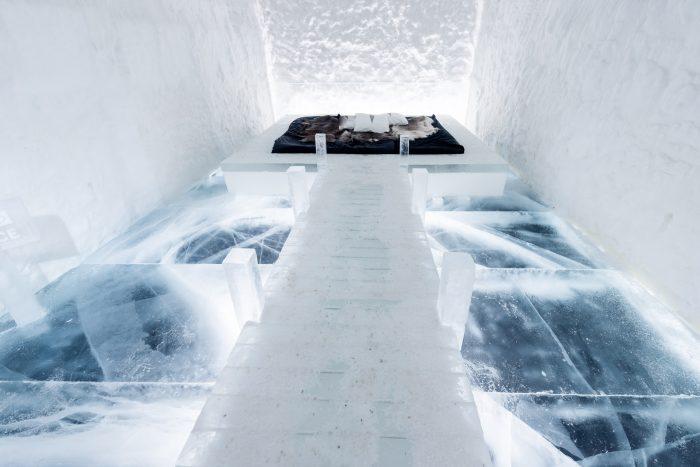 Dit is één van de kamers is Icehotel 365