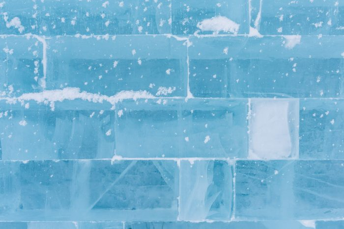 Bakstenen van ijs