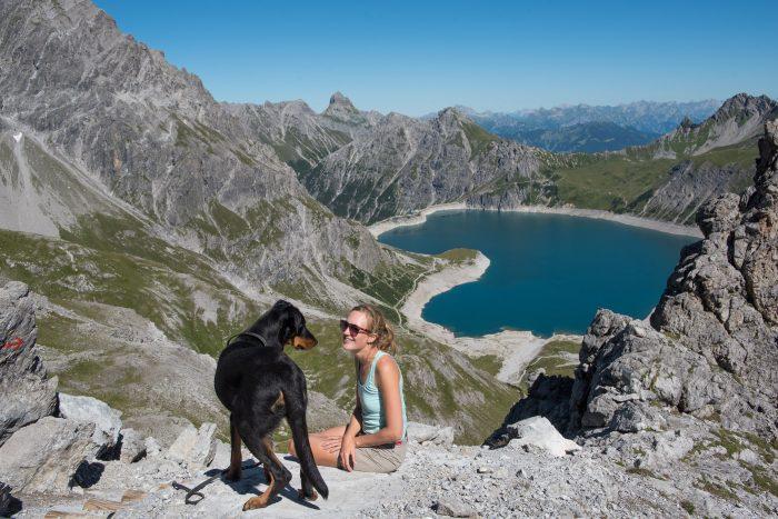 Samen met JJ op de mooiste plek in Oostenrijk; de Lünersee!