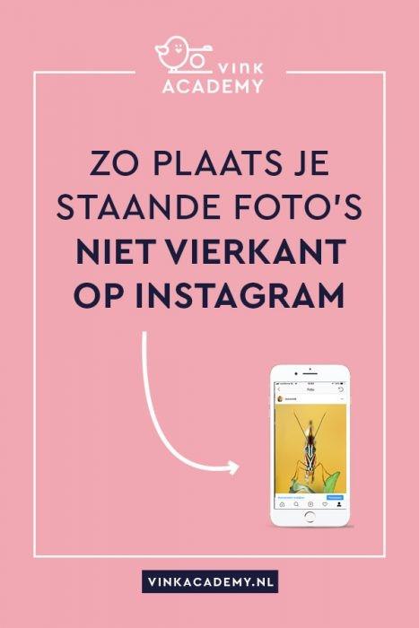 Vierkant hoeft niet meer. Zo zet je een staande of liggende (portrait of landscape) foto op Instagram
