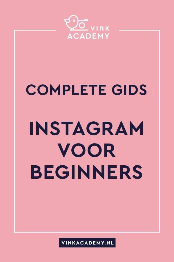 Instagram voor beginners