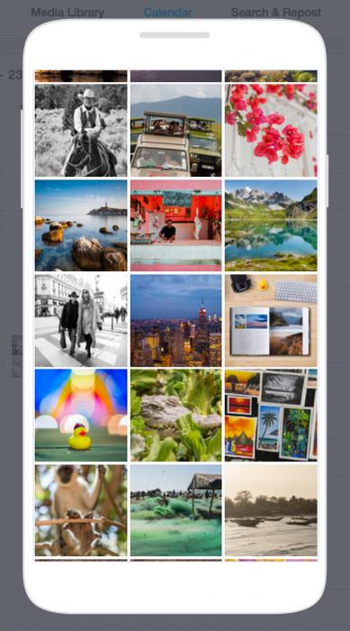 """Handig: druk je op de knop """"Preview"""" (rechts boven de kalender), dan krijg je een voorbeeld van de timeline te zien met de ingeplande foto's."""