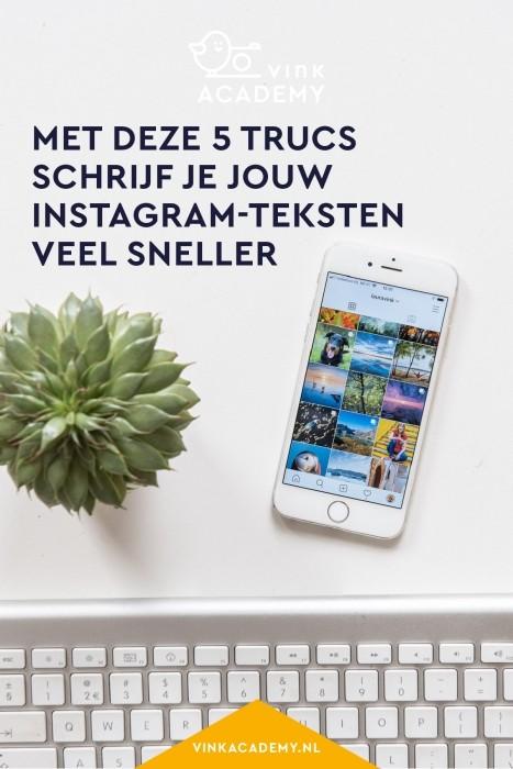 Met deze trucs schijf je jouw Instagram-teksten veel sneller