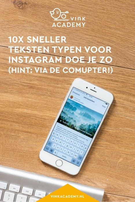 Zo type je veel sneller je berichten voor Instagram
