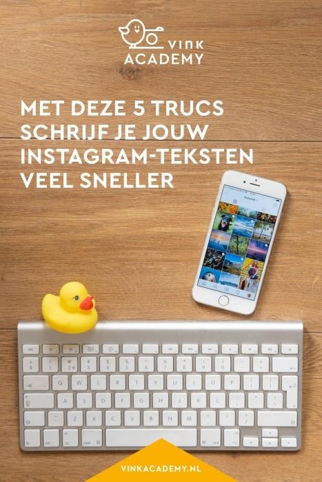 Instagram tutorial voor sneller typen