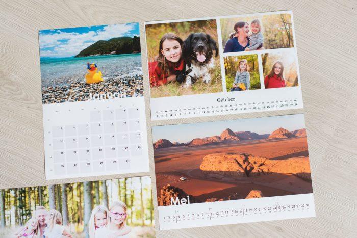 Voorbeelden van de kalender templates voor Lightroom