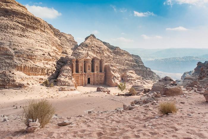 Tempel in Petra, Jordanie