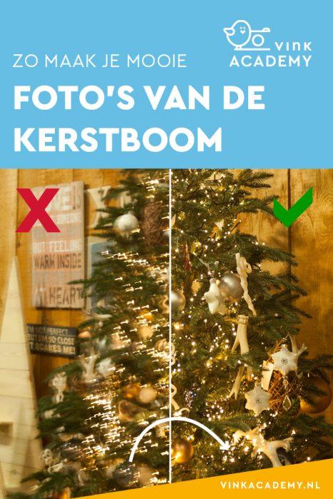 Kerstboom fotograferen camera-instellingen: voorkom bewogen foto's