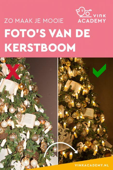 Kerstboom fotograferen camera-instellingen: zonder flits