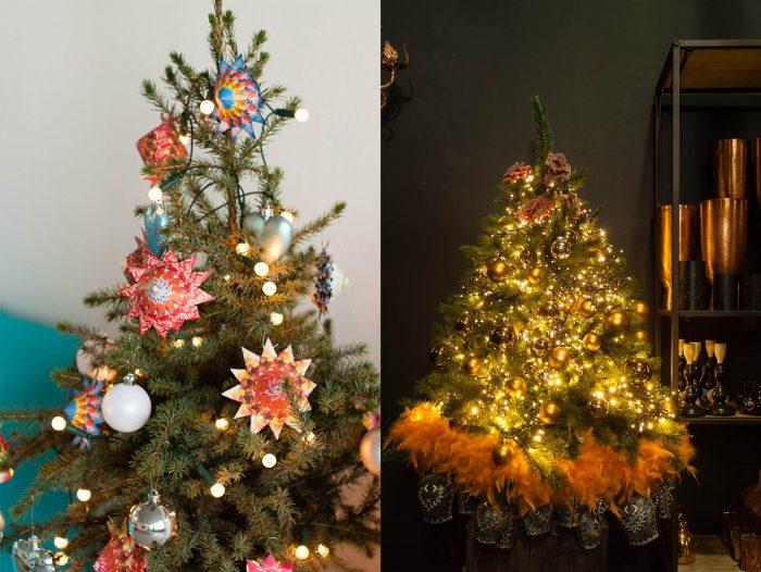 Het geeft een groot verschil in sfeer of je de kerstboom overdag fotografeert ofjuist in de schemering en avond.