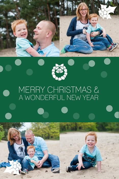 Kerstkaart met gezinsfoto's
