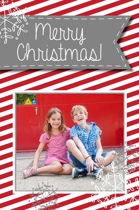 Kerstkaart zelf maken met eigen foto