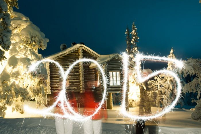 Oud en nieuw vieren in Lapland